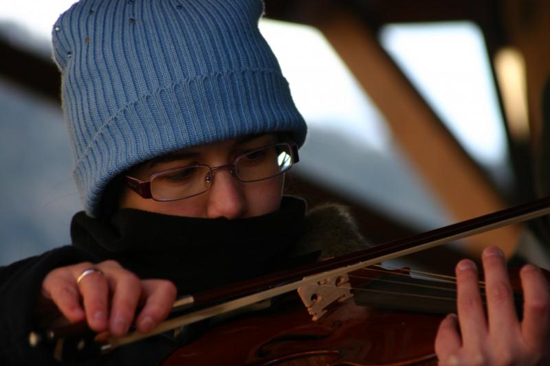 Che freddo...suonare a 5 gradi sotto zero!