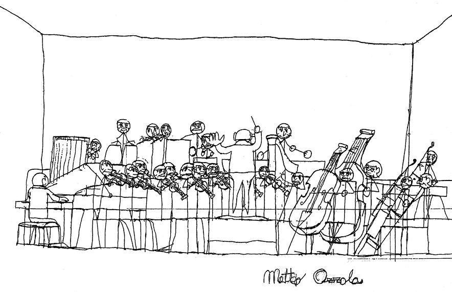 disegno orchestra Matteo