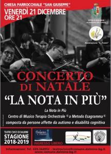 Locandina Concerto orchestra senior Dalmine 21 dicembre 2018
