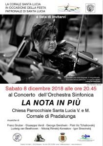 Locandina concerto Cornale 2018