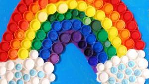 arcobaleno con tappi